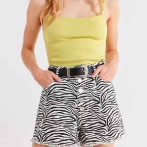 Urban Outfitters Zebra Shorts NWT